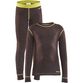 Craft Core Wool Merino Set Ropa Interior Niños, peak melange